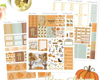 Cozy Autumn - Printable Planner Stickers - Instant Download
