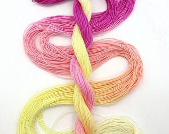 "Size 10 ""Peace"" hand dyed thread 6 cord cordonnet tatting crochet cotton"
