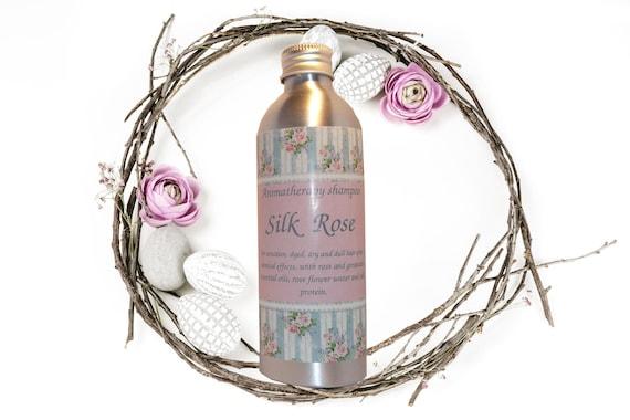 """Sulfate-free aromatherapy volumizing shampoo """"Silk Rose"""""""