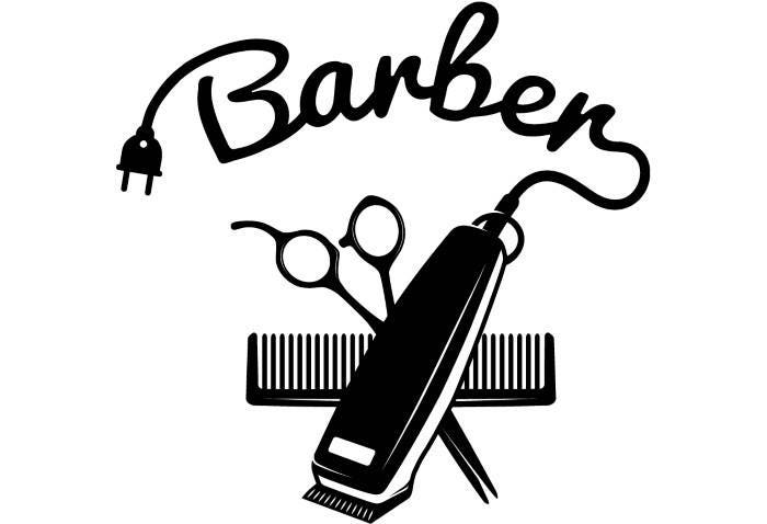 Barber logo 4 salon shop haircut hair cut groom grooming for Logo drawing tool