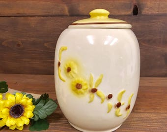1950'S Wild Sunflowers Cookie Jar Hull No 48