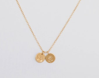 Belle Inspired Double Disc Necklace