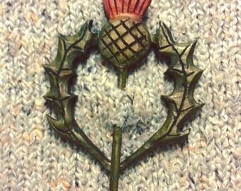 Thistle Shawl Pin