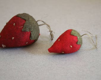 Vintage Strawberry Pincushions