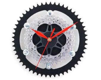 Wall Clock, Bike Clock, Bicycle Clock, Unique Clock, Cyclist Gift, Cycling Decor, Recycled Clock, Decor Art Clock, Metal Clock, Office Clock
