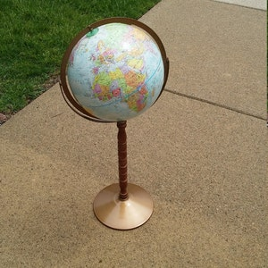 Replogle World Globe/floor Globe  Double Axsis  Shabby/boho Chic/wedding