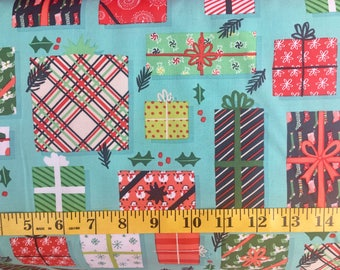 ClothWorks 25 Days of Christmas Y1910-103 Light Teal Cotton Fabric By the Yard