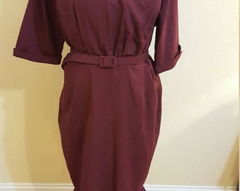 Collectif Wine Pencil dress Size 18 - NWT