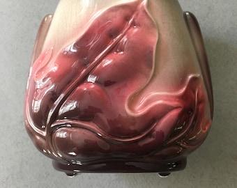 Vintage Royal Copley Pottery-Harmony Leaf Vase