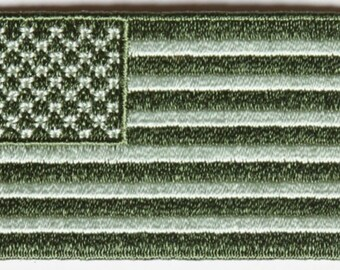 United States Flag Patch Earth Green 2.5 x 1.4 inch Free Ship P4947