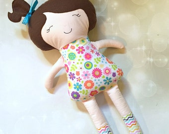 Baby Doll - Personalized Dolly - Doll - Monogram Doll - Baby Shower Gift - Birthday Gift - New Baby - Siblings Gift - My First Doll - Plush
