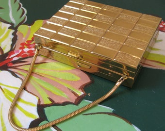 Compact Purse 50s Era Brass GREAT GIFT