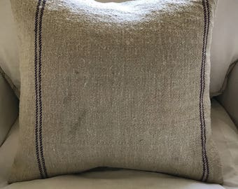 Vintage Feed-Sack Pillow-Cover - 18 inch square