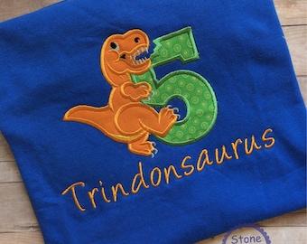 Dinosaur birthday shirt, dino birthday shirt, 5th birthday shirt, 5th birthday dinosaur shirt, dinosaur birthday party
