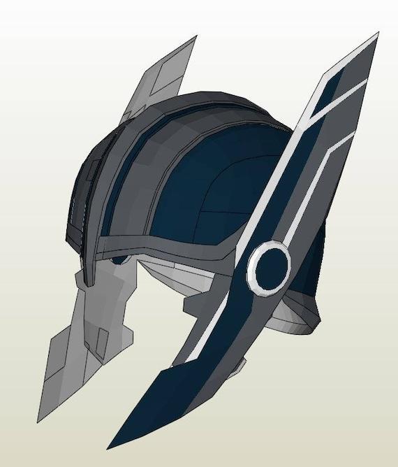 Thor Ragnarok helmet Pepakura DIY pattern