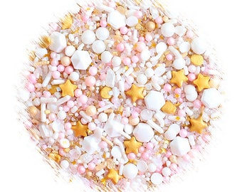 Sprinklefetti Princess Sprinkles Mix, Edible Sprinkles, Gold Sprinkles, Light Pink Sprinkles, Sprinkle Blend, Cake Decorating