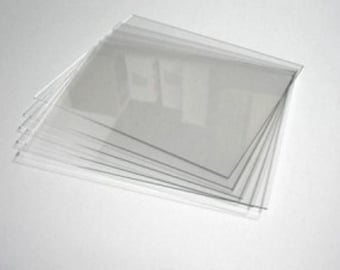 "Acrylic Sheets - Use as a Replacement for Glass in Picture Frames 1/16"" thick"