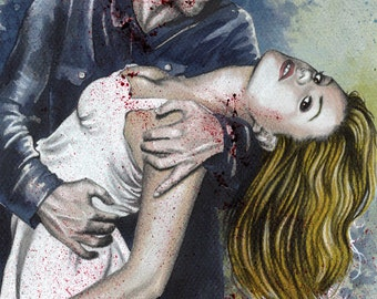 """Sookie is mine - True Blood Traditional Art Watercolor Painting - Photo Print 15x20cm (5.9""""x7.8"""") - Hand Signed"""