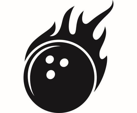 Bowling Ball 1 Fire Flames Sports Game Bowl League Ally Lane