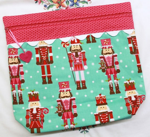 MORE2LUV Nutcracker Candyland Cross Stitch Project Bag