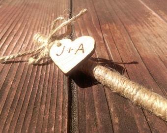 rustic wedding pen, wedding guest book pen, burlap wedding