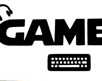 DIY Gamer Vinyl Decal, Video Game Player Decal, Laptop Decal, Tablet Decal, Car Window Decal, Drinkware Decal, Canvas Decal, Frame it