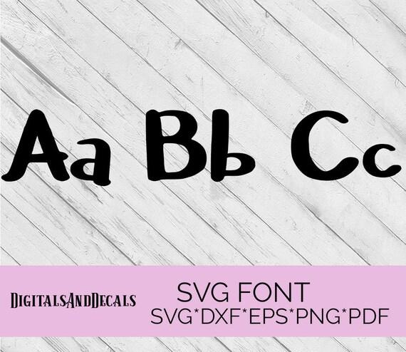 Download SVG Font Alphabet Svg Fonts for Cricut SVG lettering Cameo