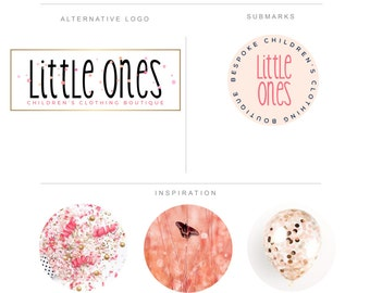 Branding Package Watercolor Gold Confetti Clothing Boutique Logo Watercolor Confetti Sprinkles - Branding Kit Photography-Food Blog Clohting