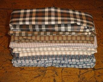 Fabric Scrap | Homespun Scrap Bundle | Cotton Fabric Bundle | Fabric Remnants | Sewing Fabric | Craft Fabric | Doll Making Fabric