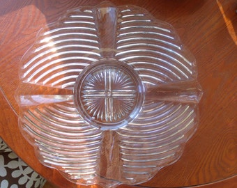 Gorgeous vintage cut glass cake platter