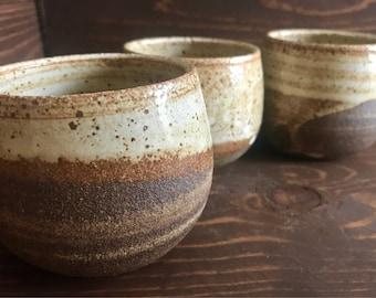 Handmade Ceramic Marbled Clay Teacups, Stoneware Tumblers, Wheelthrown Beachy Modern Pottery, Birthday Gift, Wedding Gift