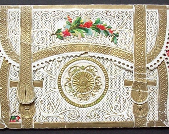 Christmas Greetings 'card' from 1850s