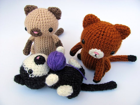 Amigurumi Kitten Patterns : Crochet pattern pdf amigurumi cat cute crochet amigurumi