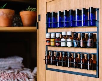 Essential Oil Storage, Display, Holder, Case, Organizer, Rack, Holds 24-15ml Bottles