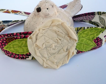PDF PATTERN and TUTORIAL for Fabric Flower Headband