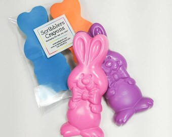 Easter bunny crayon set of 2 by Scribblers Crayons