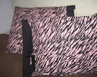 Pink and Black Zebra Pillowcases