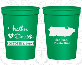 Puerto Rico Wedding Cups, Puerto Rico Stadium Cups, Puerto Rico Plastic Cups, Puerto Rico Cups, Puerto Rico Party Cups (190)