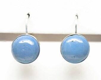 Leland Blue Sterling Silver 10 mm Round Earrings