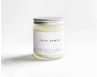 Palo Santo | ALL NATURAL Aromatherapy Soy Candle | ARGENTINA | Essential Oil Candle