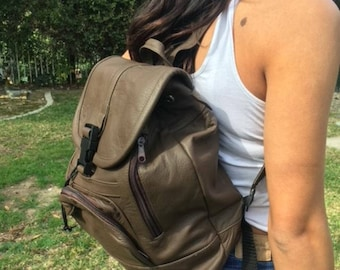 Backpack bag,Brown leather backpack,Made in Mexico,Back pack,sling bag