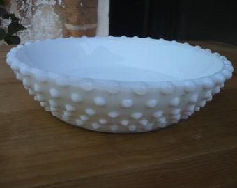 Milk Glass Hobnail Ash Tray