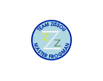 The Life Aquatic Team Zissou Master Frogman Embroidered Iron On Patch Iron on Applique