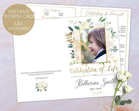 Funeral program memorial program memorial service brochure solutioingenieria Image collections