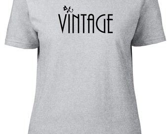 Vintage. One Word. Ladies semi-fitted t-shirt.