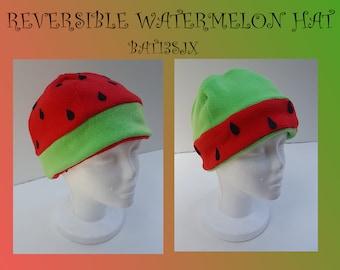 Fleece WaterMelon Hat (Reversible)