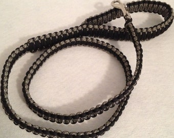 2, 4 or 6-ft Paracord Leash - Black and Camo