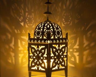 """Large 12"""" Ramadan Lantern Candleholder"""