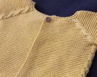 Patrón chaqueta raglán trenzas 6-9 meses español