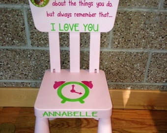 Personalized Light Pink Time Out Plastic Toddler Chair With Working Timer